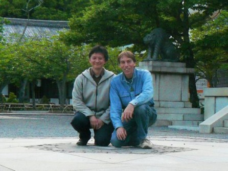 With friend and client Takashi on Mt. Kurama/Kyoto