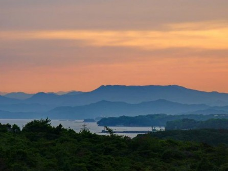 Shima/Mie: Sunset in beautiful Shima. 