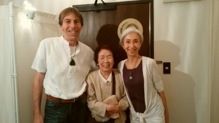 OSAKA: With a happy and relieved client after her Healing session